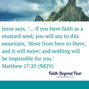 Matthew 17:20, Heather Norman Smith, Faith Beyond Fear, faithbeyondfear.com, Alynda Long, Baby Step, Mustard Seed