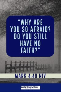 Mark 4:40 NIV, afraid, Faithbeyondfear.com